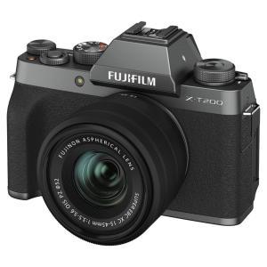 富士フイルム ミラーレス一眼カメラ「FUJIFILM X-T200」レンズキット(ダークシルバー) ...