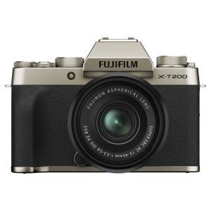 富士フイルム ミラーレス一眼カメラ「FUJIFILM X-T200」レンズキット(シャンパンゴールド...