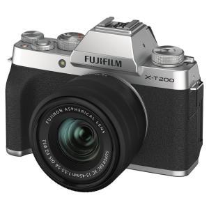 富士フイルム ミラーレス一眼カメラ「FUJIFILM X-T200」レンズキット(シルバー) FX-...