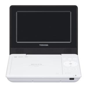 東芝 7型ポータブルDVDプレーヤーホワイトCPRM対応 TOSHIBA REGZA レグザポータブルプレーヤー SD-P710SW 返品種別A|joshin