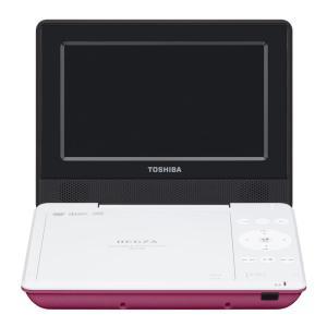 東芝 7型ポータブルDVDプレーヤーピンクCPRM対応 TOSHIBA REGZA レグザポータブルプレーヤー SD-P710SP 返品種別A