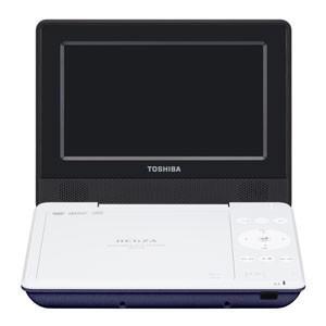 東芝 7型ポータブルDVDプレーヤーブルーCPRM対応 TOSHIBA REGZA レグザポータブルプレーヤー SD-P710SL 返品種別A|joshin