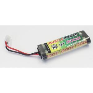 京商 (再生産)マッスルパワー 3000 7.2V Ni-MH バッテリー(R246-8452B)ラジコン用バッテリー 返品種別B|joshin