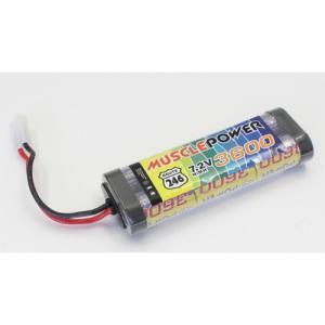 京商 (再生産)マッスルパワー 3600 7.2V Ni-MH バッテリー(R246-8453B)ラジコン用バッテリー 返品種別B|joshin