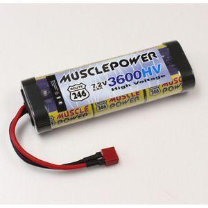京商 マッスルパワー 3600HV 7.2V Ni-MH バッテリー(R246-8454)ラジコン用バッテリー 返品種別B|joshin