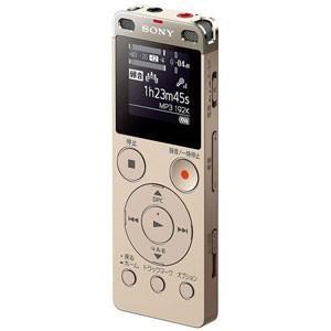 ソニー リニアPCM対応ICレコーダー4GBメモリ内蔵+外部マイクロSDスロット搭載(ゴールド) SONY ICD-UX560FNC 返品種別A|joshin