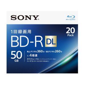 ソニー 4倍速対応BD-R DL 20枚パック 50GB ホワイトプリンタブル 20BNR2VJPS4 返品種別A