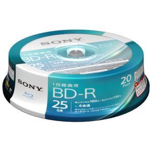 ソニー 4倍速対応BD-R 20枚パック 25GB ホワイトプリンタブル 20BNR1VJPP4 返品種別A
