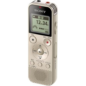 ソニー リニアPCM対応ICレコーダー4GB内蔵+外部マイクロSDカードスロット搭載(ゴールド) SONY ICD-PX470F N 返品種別A|joshin