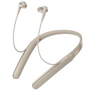 ソニー ノイズキャンセリング機能搭載Bluetooth対応 ハイブリッド密閉型イヤホン (シャンパンゴールド) SONY 1000Xシリーズ WI-1000X N 返品種別A|joshin