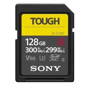 ソニー 高耐久 SDXCメモリーカード 128GB Class10 UHS- TOUGHシリーズ SF-G128T 返品種別A|joshin