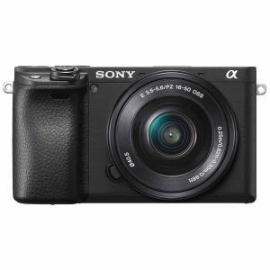 ソニー ミラーレス一眼カメラ「α6400」パワーズームレンズキット(ブラック) SONY ILCE-...