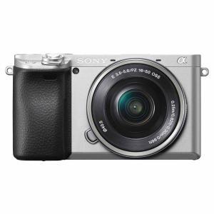 ソニー ミラーレス一眼カメラ「α6400」パワーズームレンズキット(シルバー) SONY ILCE-6400L-S 返品種別A|joshin