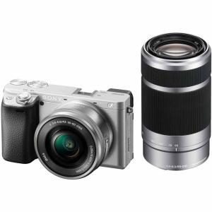 ソニー ミラーレス一眼カメラ「α6400」ダブルズームレンズキット(シルバー) SONY ILCE-6400Y-S 返品種別A|joshin
