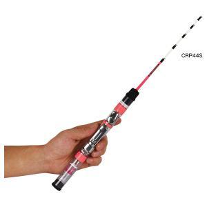 プロックス ワカサギロッド クリアロックプラス 45cm S(蛍光レッド) PROX 並継 2ピース CRP44S 返品種別A joshin