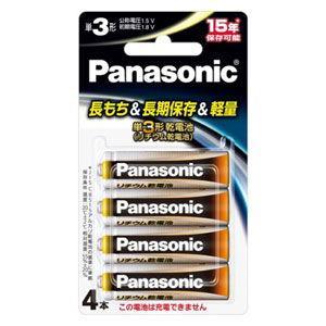 パナソニック リチウム乾電池単3形 4本パック Panasonic FR6HJ/ 4B 返品種別A|joshin
