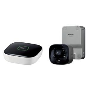 パナソニック 屋外カメラキット(ホームユニット+屋外バッテリーカメラ) Panasonic スマ@ホームシステム ホームネットワークシステム KX-HC300SK-H 返品種別A|joshin