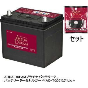 AQUA DREAM 国産車用バッテリー メンテナンスフリー 充電制御車対応 ターミナルガード(AQ-TG001)セット(他商品との同時購入不可) AD-MF100D23L-TG 返品種別Bの画像