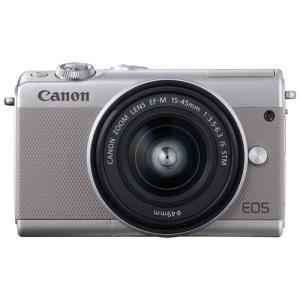 キヤノン ミラーレス一眼カメラ「EOS M100」EF-M15-45 IS STMレンズキット(グレー) Canon EOSM100GY-1545LK 返品種別A joshin