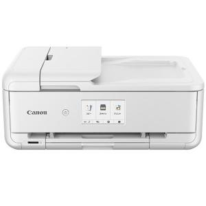 キヤノン A3対応 インクジェットプリンター(ホワイト) Canon PIXUS(ピクサス) TR9530WH 返品種別A|joshin