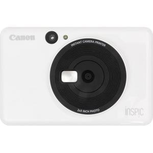 キヤノン インスタントカメラプリンター「iNSPiC CV-123」 CV-123-WH 返品種別A