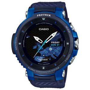 カシオ (国内正規品)スマートウォッチPROTREK Smart Outdoor Watch WSD-F30-BU 返品種別A|joshin