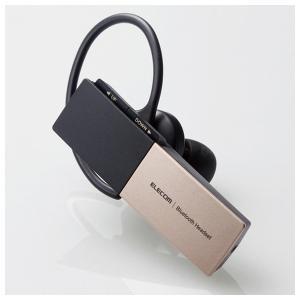 エレコム 片耳用 Bluetooth 5.0 ヘッドセット USBType-Cポート搭載(ゴールド)...