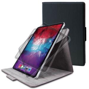 エレコム iPad Pro 11インチ(第2世代)用 フラップカバー ヴィーガンレザー 360度回転...