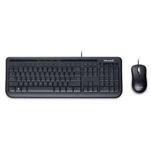 マイクロソフト 有線 キーボード&光学式マウスセット(ブラック) Wired Desktop 600...