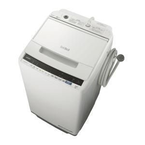 (標準設置 送料無料) 日立 7.0kg 全自動洗濯機 ホワイト HITACHI ビートウォッシュ ...