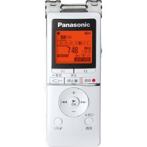 パナソニック リニアPCM対応ICレコーダー8GBメモリ内蔵+外部マイクロSDスロット搭載(ホワイト) Panasonic RR-XS470-W 返品種別A|joshin