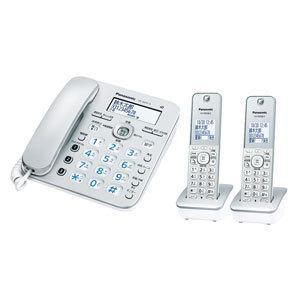 パナソニック デジタルコードレス留守番電話機(子機2台) シルバー Panasonic ル・ル・ル(RU・RU・RU) VE-GZ31DW-S 返品種別A|joshin