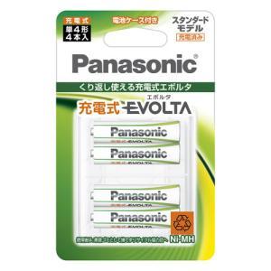 パナソニック ニッケル水素電池 単4形(4本入) Panasonic 充電式EVOLTA スタンダードモデル BK-4MLE/ 4BC 返品種別A|joshin