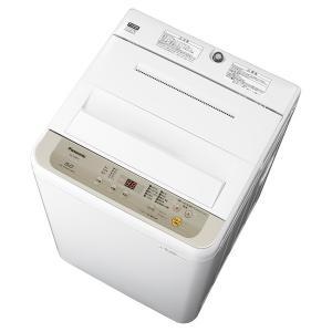 (標準設置 送料無料) パナソニック 5.0kg 全自動洗濯機 シャンパン Panasonic NA-F50B12-N 返品種別A|joshin