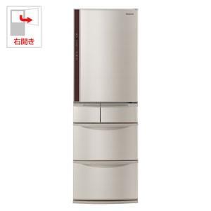 (標準設置 送料無料) パナソニック 406L 5ドア冷蔵庫(シャンパン)(右開き) Panasonic エコナビ NR-E414V-N 返品種別A|joshin