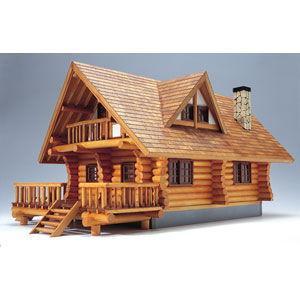 ウッディジョー 1/ 24 木製模型 ログハウス木製組立キッ...