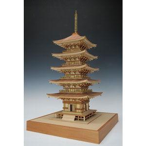 ウッディジョー 1/ 75 羽黒山五重塔木製組立キット 返品種別B joshin