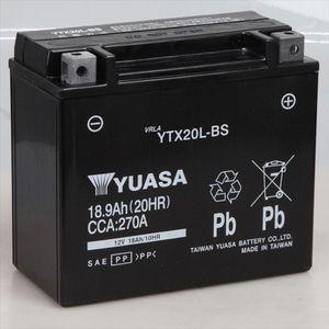 台湾ユアサ バイク用バッテリー(電解液注入・充電済)(他商品との同時購入不可) YTX20L-BS(タイワンユアサ) 返品種別A|joshin