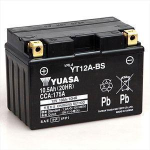 台湾ユアサ バイク用バッテリー(電解液注入・充電済)(他商品との同時購入不可) YT12A-BS 返品種別A|joshin