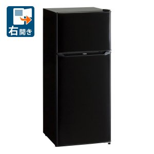 (標準設置 送料無料) ハイアール 130L 2ドア冷蔵庫(直冷式)ブラック(右開き) Haier JR-N130A-K 一人暮らし 返品種別A|joshin