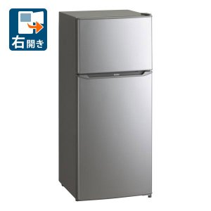 (標準設置 送料無料) ハイアール 130L 2ドア冷蔵庫(直冷式)シルバー(右開き) Haier JR-N130A-S 一人暮らし 返品種別A|joshin