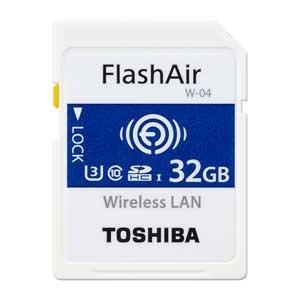 東芝 無線LAN搭載SDHCメモリカード 32GB Class10 UHS-1 Flash Air SD-UWA032G 返品種別A|joshin