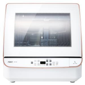 アクア 食器洗い機(ホワイト) (食洗機)(送風乾燥機能付き) AQUA ADW-GM2-W 返品種...