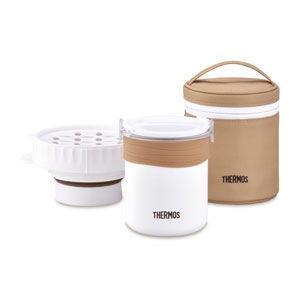 サーモス ごはんが炊ける弁当箱 ホワイト THERMOS JBS-360-WH 返品種別A