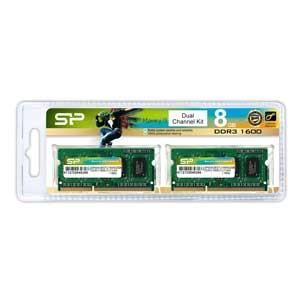 シリコンパワー PC3-12800(DDR3-1600)204pin DDR3 SDRAM S.O.DIMM 8GB(4GB×2枚) SP008GBSTU160N22JB 返品種別B|joshin