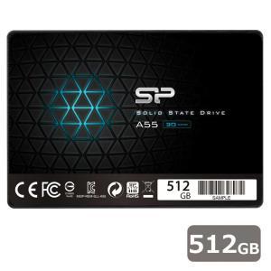 シリコンパワー SiliconPower SSD Ace A55シリーズ 512GB (PlayStation4/ 4 PRO 動作確認済) SPJ512GBSS3A55B 返品種別B|joshin