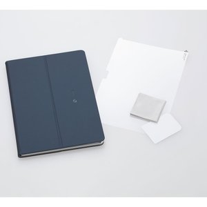 NEC LAVIE Tab E(PC-TE410JAW)用 カバー&保護フィルム(ネイビーブルー) PC-AC-AD013C 返品種別A joshin