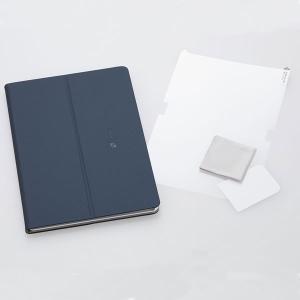 NEC LAVIE Tab E(PC-TE510JAW)用 カバー&保護フィルム スタンド機能付き(ネイビーブルー) PC-AC-AD014C 返品種別A joshin