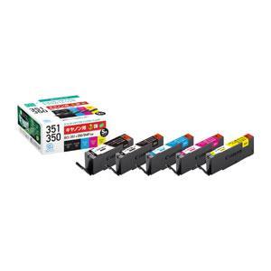 エコリカ キャノン用 BCI-351+350/ 5MP 互換 リサイクルインク(5色パック) ECI...