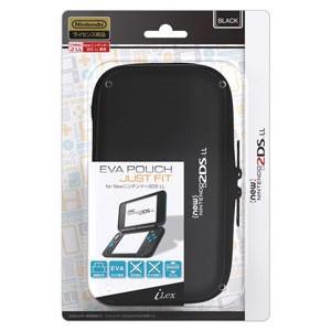 アイレックス (New2DS LL)EVA Pouch Just Fit for New ニンテンドー 2DS LL(ブラック) 返品種別B|joshin